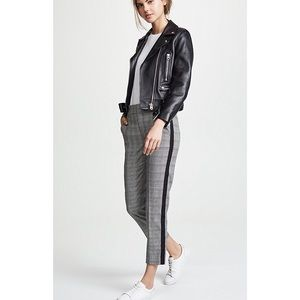 Joie houndstooth trouser pants with side stripe